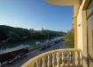 Вид с балкона на речку